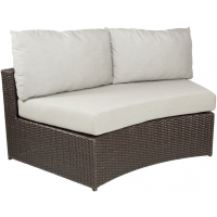 VALLEJO SECTIONAL CENTER LOVESEAT - BROWN