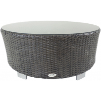 VALLEJO ROUND COFFEE TABLE - BROWN