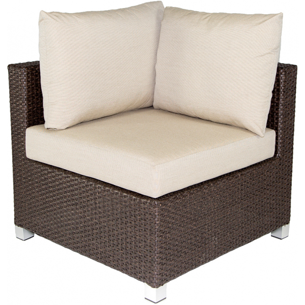 VENICE SECTIONAL CORNER CHAIR - BROWN