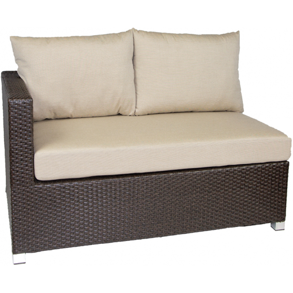VENICE SECTIONAL LAF LOVESEAT - BROWN