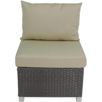 VENICE SECTIONAL ARMLESS CHAIR - BROWN