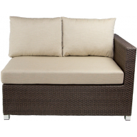 VENICE SECTIONAL RAF LOVESEAT - BROWN