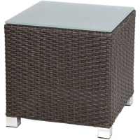 VENICE CUBE SIDE TABLE -BROWN