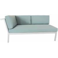 RIVIERA GEO SECTIONAL LAF LOVESEAT - WHITE