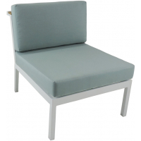 RIVIERA GEO SECTIONAL ARMLESS CHAIR - WHITE