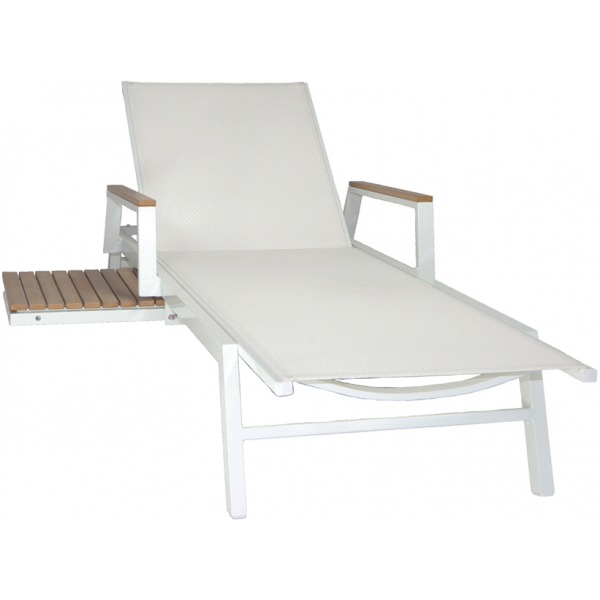 RIVIERA CHAISE LOUNGER - WHITE