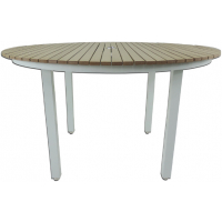 RIVIERA ROUND DINING TABLE - WHITE