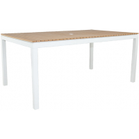 """RIVIERA RECTANGLE 65"""" DINING TABLE - WHITE"""