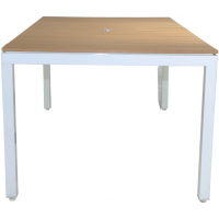 """RIVIERA RECTANGLE 84"""" DINING TABLE - WHITE"""