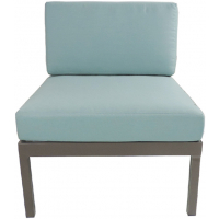 RIVIERA GEO SECTIONAL ARMLESS CHAIR - GREY