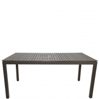 """RIVIERA RECTANGLE 65"""" DINING TABLE - GREY"""