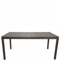 """RIVIERA RECTANGLE 84"""" DINING TABLE - GREY"""
