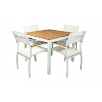 RIVIERA SQUARE DINING TABLE - WHITE