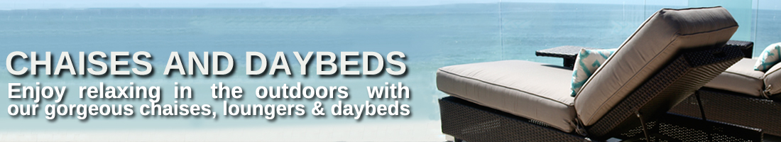 Commercial Outdoor Chaises and Daybeds